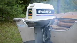 1983 25hp evinrude outboard motor youtube