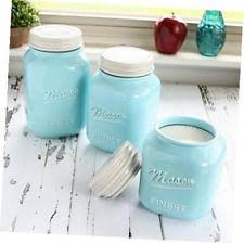 mason jar kitchen canister set of 3 canisters large round