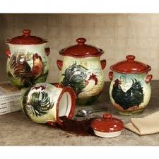 rooster kitchen canisters country kitchen canister set foter