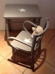 bureau bébé ensemble table bureau enfant et chaise fauteuil vintage en bois