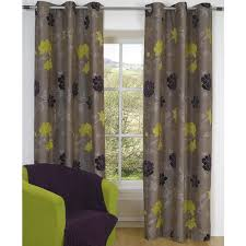 Steel Grey Curtains Curtain White Fabric Curtain With Grey And Black Leave