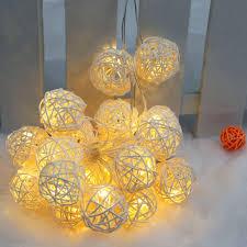 Home Decoration Lights Lixada 2 1m 20 Led Garland Rattan Vine Ball Globe Lamp Fairy