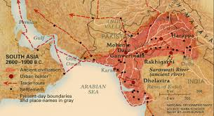 Map Of India And Pakistan by Map Of Harappa Pakistan Geospatial World