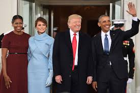 presidential inauguration obamas welcome trumps to the white