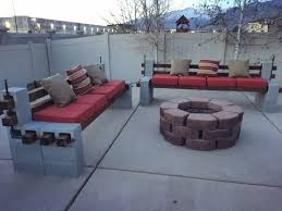 Outside Benches Home Depot by Diy We Built Outdoor Benches And A Firepit For Cozy Backyard Pics