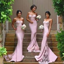 chagne bridesmaid dresses sa154 cheap 2016 purple spaghetti straps lace mermaid