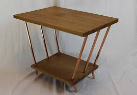 Red Oak Table by Red Oak U0026 Copper Pipe End Table