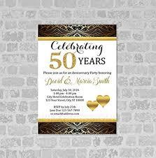 online store 50th wedding anniversary invitation gold digital