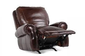 Natuzzi Leather Recliner Chair Usa Leather Oak Paisley Recliner Mathis Brothers Furniture