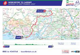 Map Of Britain Ovo Energy Tour Of Britain Stage Eight Worcester To Cardiff