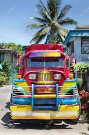 philippines jeepney vector frontal view of a filipino colorful rural jeepney public