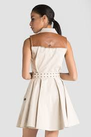 rachel zoe gable sleeveless trench dress beige 365ist