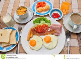 how to set a table for breakfast set of american breakfast on table stock image image of plate