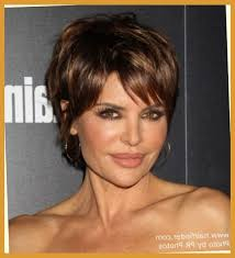 lisa rinna modern pixie haircut for a 50 years old lady intended