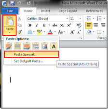 embed data sheet from excel 2010 to word document