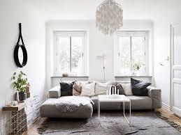Bright Floor L Living Room Bright Scandinavian Living Room Design With L Shape