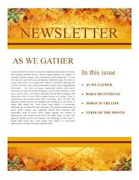of thanksgiving newsletter template newsletter templates