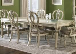 Antique Furniture Dining Room Set by Rectangle Leg Dining Table With Solids Hardwood And Antique Ivory