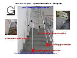 leitern fã r treppen verstellbare treppenleiter leiter für wendeltreppen und treppen
