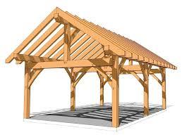 16 x 24 timberframe kit groton timberworks timber carport plans plans diy outdoor wooden swing set