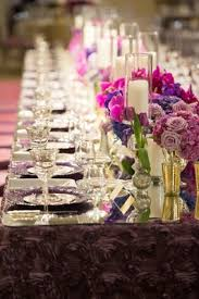 Linens For Weddings Modified Catholic Ceremony Opulent Reception With Purple Décor