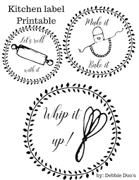 free kitchen printable labels for canisters or more debbiedoos