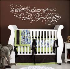Girls Bedroom Wall Quotes Baby Quotes Sleep Dreams Sleep Tight We Love You