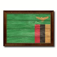 home decor gift items zambia country flag texture canvas print with brown custom picture