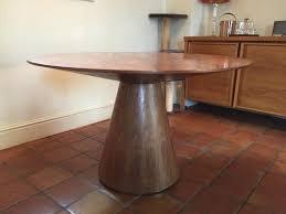 round walnut dining table dwell round walnut dining table in oakham rutland gumtree