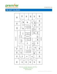 Floor Plan Business Pasadena Executive Office Space 790 East Colorado