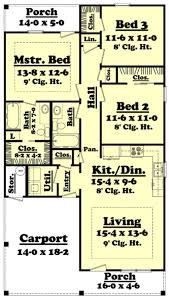 House Plans For 1200 Sq Ft Traditional Style House Plan 3 Beds 2 00 Baths 1200 Sq Ft Plan