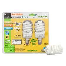 shop sylvania 2 pack 60 w equivalent soft white a19 cfl light