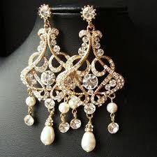 rhinestone chandelier earrings best 25 bridal chandelier earrings ideas on blush for