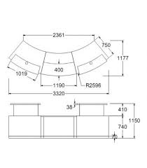 Reception Desk Height Dimensions Dda Reception Desk Classic B1 2ddalr No Plinth Online Reality