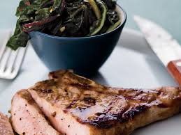 grilled pork chops with anchovies and swiss chard recipe melissa