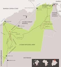 Botswana Map Getting To Chobe National Park Botswana Andbeyond