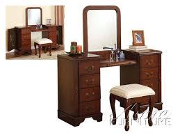 Vanity Set Furniture Bedroom Decorative Vanity With Stool Set 3 Drawers In Grey Chair