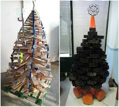 Organic Christmas Trees Christmas Trees Made With Recycled Materials U2022 Recyclart