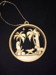 locket ornament 3 d nativity christmas ornament latitude 67 laser design