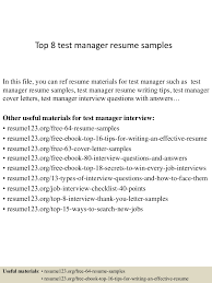 Resume For Test Lead Test Lead Resume Format Free Resume Example And Writing Download