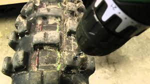Winter Motorcycle Tires How To Make Winter Tires For A Dirt Bike Youtube