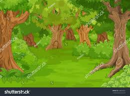 illustration amazing forest glade stock vector 338626361