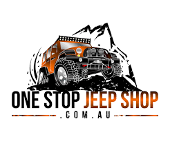 logo jeep wrangler bold playful logo design for one stop jeep shop pty ltd by