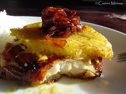 cuisine metisse dos de cabillaud à la mangue rôtie et confit d oignons rouges