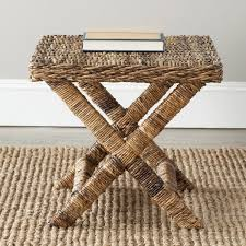 safavieh manor natural wicker x bench free shipping today