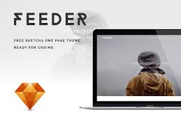 feeder website design sketch freebie download free resource for