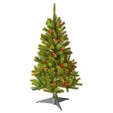 trimmerry 3 canadian fir grande tree with 50 multi lights shopko