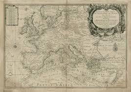 Nautical Maps 1720 Nouvelle Carte Marine De Tous Les Ports De L U0027europe Sur L