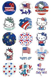 free kitty 4th july bottle cap images 4x6 emailed