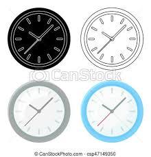 horloge bureau style illustration horloge bureau symbole isolé clipart